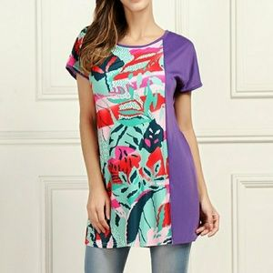 Tops - green and purple tunic
